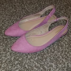 Old Navy Faux-Suede slingback flats